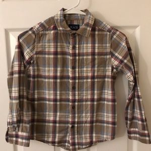 Children's Place Boy's long sleeved plaid shirt
